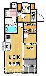フォーサイト姪浜[3階]の間取り