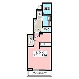 ベラ・ルーチェ[1階]の間取り