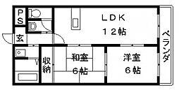 スカイガーデン東大阪[304号室号室]の間取り