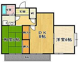 メゾンドタナカ[3階]の間取り