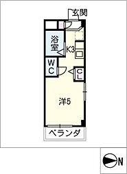 シャトー岐大 B棟[3階]の間取り