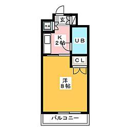 エスポワール祇園[2階]の間取り