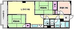 グランドハイツ魚崎[6階]の間取り