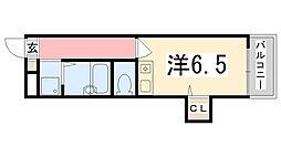 シャトー三和船場[201号室]の間取り