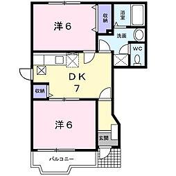 メゾンドールK IV[1階]の間取り
