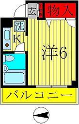 ヴァーレンハウス西村1[305号室]の間取り