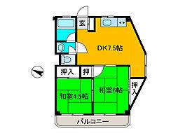 協和開発ビル[3階]の間取り