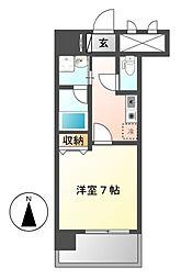 スカイフラット名古屋[4階]の間取り
