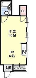 コーポ浄土寺[202号室号室]の間取り