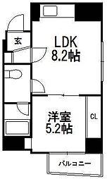 北海道札幌市中央区北一条西22丁目の賃貸マンションの間取り