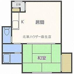 アーバン新川[3階]の間取り