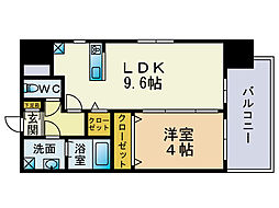 ウインステージ博多駅南[9階]の間取り