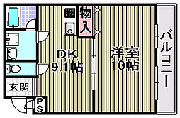 ポポラート泉[208号室]の間取り