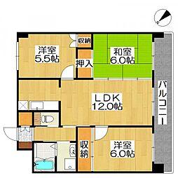 サンライフマンション[2階]の間取り