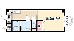 愛知県名古屋市緑区亀が洞3丁目の賃貸マンションの間取り