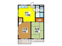 東京都府中市若松町2丁目の賃貸マンションの間取り