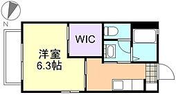 アンシャンテ新田B棟[2階]の間取り