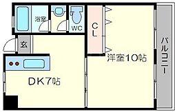 橋本第一綜合ビル[7階]の間取り