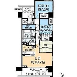 パークホームズ神戸ザレジデンス[15階]の間取り