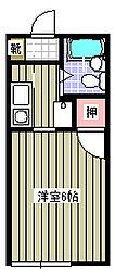 サクセスコート東中野[1階]の間取り