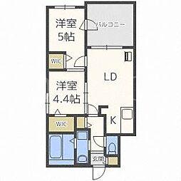 北海道札幌市西区二十四軒一条6丁目の賃貸マンションの間取り