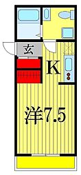 Kヒルズ津田沼[1階]の間取り