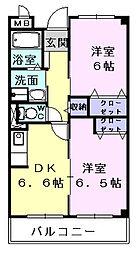 ガーデンパレス21[2階]の間取り