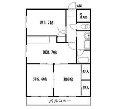 静岡県浜松市中区曳馬6の賃貸マンションの間取り