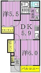 シャトレ・ハイムII[103号室]の間取り