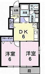 トランキル梓B[0101号室]の間取り