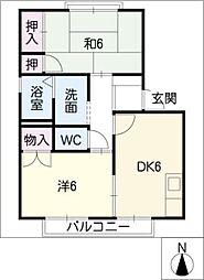 ダン・カーサ111[1階]の間取り