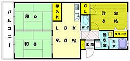 サウスベリー88[3階]の間取り