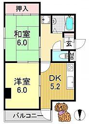 吉豊マンション[4階]の間取り