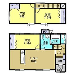 函館市美原2丁目 戸建て 3LDKの間取り
