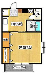 鈴江ハイツ[1階]の間取り