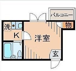 東京都墨田区東向島6の賃貸アパートの間取り