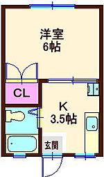 カーザ フローラ[1階]の間取り