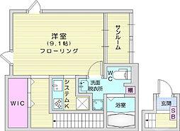 仙台市地下鉄東西線 八木山動物公園駅 徒歩19分の賃貸アパート 2階1Kの間取り