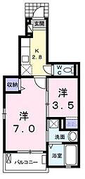 ボノス A棟[1階]の間取り