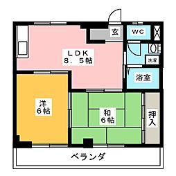 コーポY・I[2階]の間取り