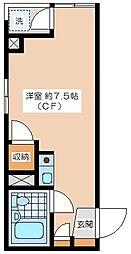 梅ヶ丘アームス[201号室]の間取り