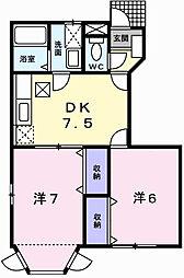 グリーンハウスⅡ[1階]の間取り