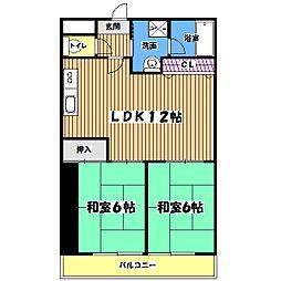 東京都青梅市師岡町4丁目の賃貸マンションの間取り