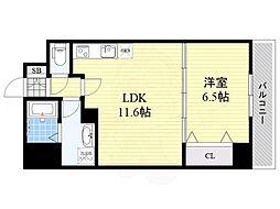 (仮称)リバレイン江坂 8階1LDKの間取り