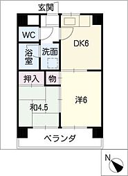 コーポ八田[2階]の間取り
