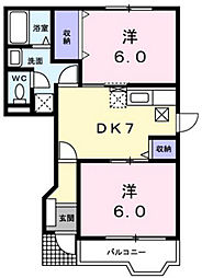 リーヴァ・カーサI[1階]の間取り
