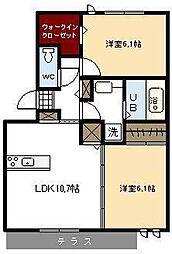 アルティスタ A棟[3階]の間取り