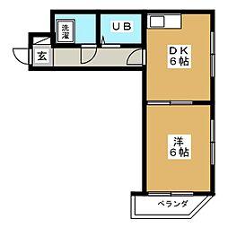 ラフォーレ姫池[5階]の間取り