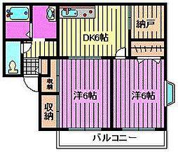 グリーンハイツ松澤[101号室]の間取り