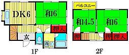 [一戸建] 埼玉県越谷市相模町4丁目 の賃貸【/】の間取り